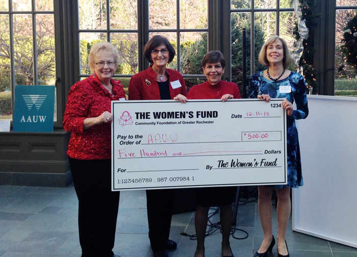 AAUW of Rochester (MI) Branch receives grant from the Women's Fund of Rochester toward presenting the $tart $mart Salary Negotiations Workshop at Oakland University.
